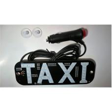 """Шашка такси""""TAXI"""" с LED-подсветкой в прикуриватель"""