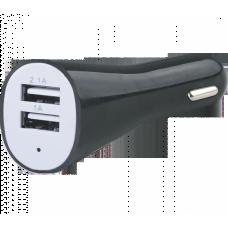 Адаптер AUTO WELLE USB 12V/24V AW06-13B черный
