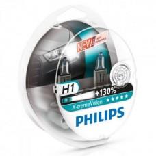 Philips автолампа H1 - X-treme Vision +130% 2шт.