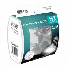Brevia Автолампы  H1 55w Max Power +100% 2шт (12010MPS)