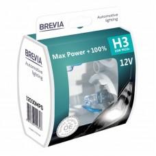 Brevia Автолампы H3 55w Max Power +100% 12030MPS  2шт