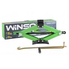 WINSO Домкрат ромбовый 1,5т резиновая подушка 104-385мм 121510