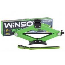 WINSO Домкрат ромбовый 1,5т с трещоткой, резиновая подушка 104-385мм 121520