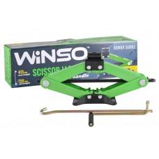 WINSO Домкрат ромбовый 2т резиновая подушка 120-413мм 122100