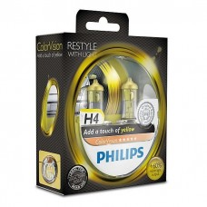 PHILIPS ColorVision yellow Галогенные лампы H4 12V 60/55W 2 шт.+ 60% 12342CVPYS2