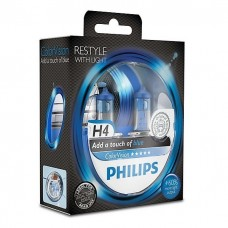 PHILIPS ColorVision blue Галогенные лампы H4 12V 60/55W 2 шт.+ 60% 12342CVPBS2