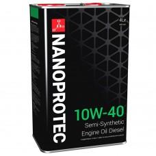 NANOPROTEC DIESEL Моторное масло 10W-40 4л