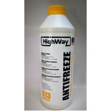 HighWay Антифриз концентрат желтый G13 1,5л.
