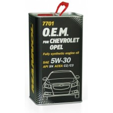 Mannol O.E.M. 7701 METALL for Chevrolet Opel 5w30 4л.