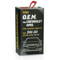 Mannol O.E.M. 7701 METALL for Chevrolet Opel 5w30 4л.