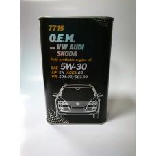 Mannol 7715 O.E.M. (Volkswagen,Audi, Skoda, Seat)  5W-30 5л