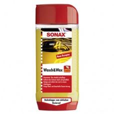 SONAX Wash and Wax Автошампунь-концентрат с воском  (Германия) 500мл 313200