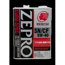 4L ZEPRO EURO SPEC 5W-40 SN/CF Fully-Synthetic