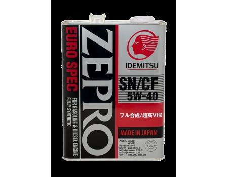 4L ZEPRO EURO SPEC 5W-40 SN/CF Fully-Synthetic