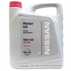 Nissan Синтетическое моторное масло  5w-40 5л