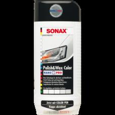 SONAX NanoPro  Белый автополироль (тефлон) с воском + карандаш 500мл  296000
