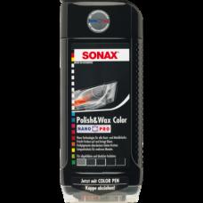 SONAX NanoPro Черный автополироль (тефлон) в воском + карандаш 500мл 296100