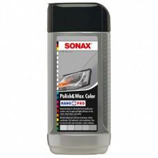 SONAX NanoPro Полироль с воском для серого (включая металлик) автомобиля 250мл 296341